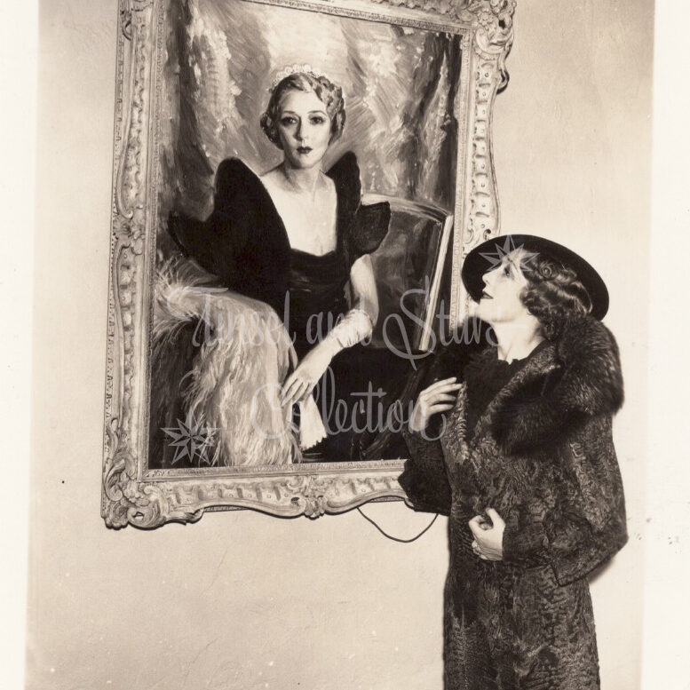 Mary Pickford with Painting